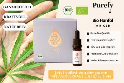 Purefy CBD Bio Hanföl aus Ihrer Apotheke