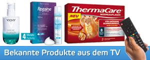 Bekannte Produkte aus der aktuellen TV-Werbung