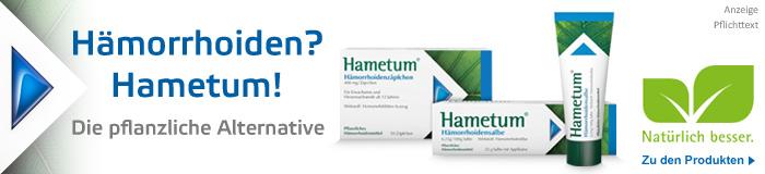 Hametum - Linderung bei Hämorrhoiden