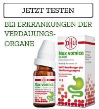 Nux vomica D6 DHU Globuli bei Erkrankung der Verdauungsorgane