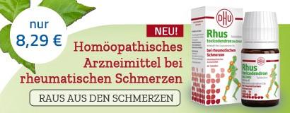 Rhus toxicodendron D6 DHU bei rheumatischen Schmerzen Tabletten