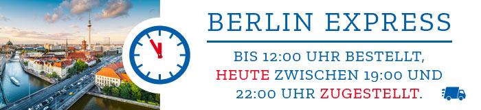 Berlin Express - Bis 12:00 Uhr bestellt, heute zwischen 19:00 und 22:00 Uhr zugestellt