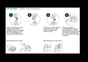 Abbildung Anwendungsbeispiel für Advantage Katze und Kaninchen
