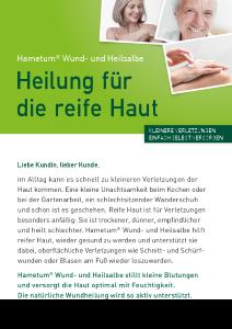 Hametum Wund- und Heilsalbe Broschüre