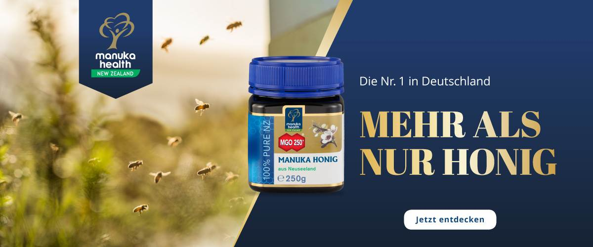 Manuka Health Honig Startbanner