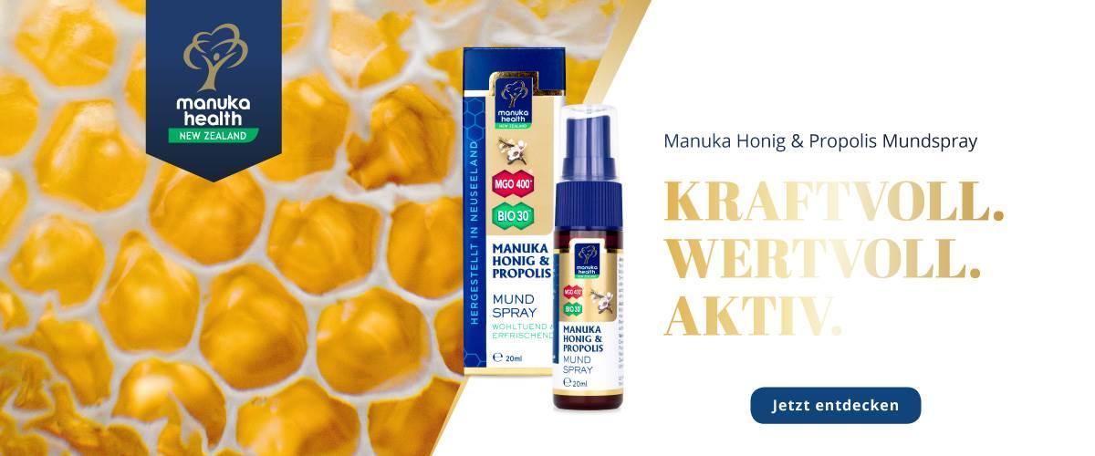 Manuka Health Propolis Startbanner
