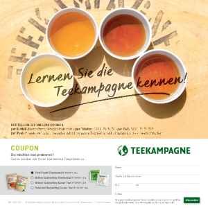Teekampagne Coupon