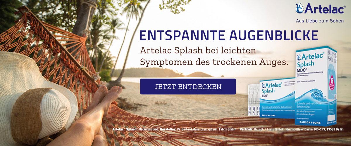 Artelac Splash bei leichten Symptomen des trockenen Auges