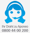 Ihr Draht zu Aponeo: 0800 44 00 200