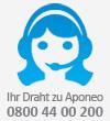 Ihr Draht zu Aponeo: 0800 44 00 200