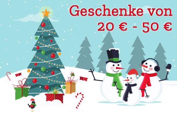 Geschenke von 20 Euro - 50 Euro