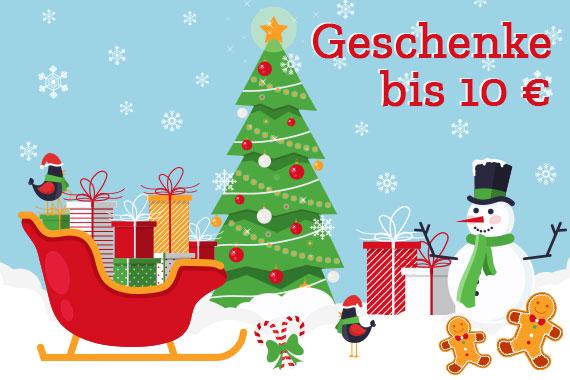 Geschenke bis 10 Euro