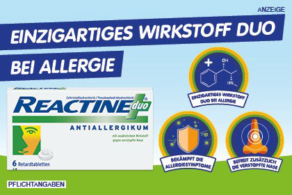 Reactine Duo Tabletten bei Allergie