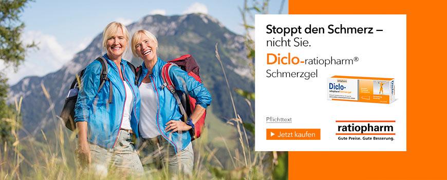 Diclo-ratiopharm Schmerzgel aus Ihrer Apotheke