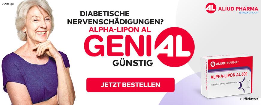 Alpha Lipon AL - Bei diabetisch bedingten Nervenschädigungen