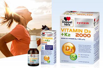 Doppelherz Vitamin D3 + K2 aus Ihrer Apotheke