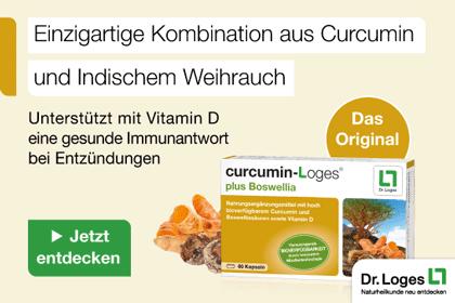 Curcumin-Loges plus Boswellia Kapseln aus Ihrer Apotheke