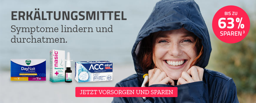 Produkte zur Linderung von Erkältungssymptomen aus Ihrer Apotheke