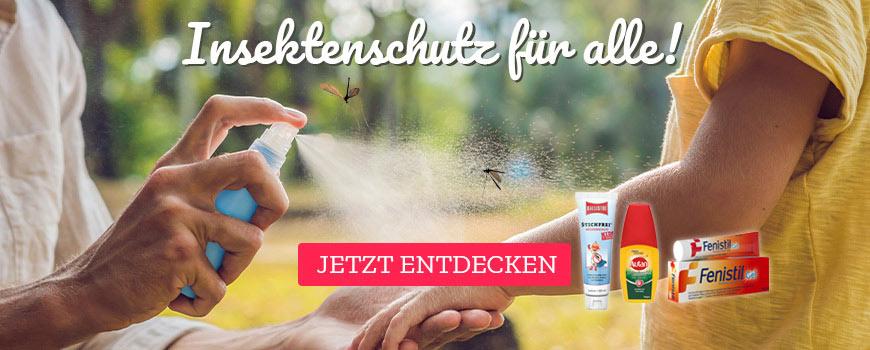 Insektenschutzmittel - Mückenspray, Zeckenschutz und Produkte zur Behandlung von Insektenstichen