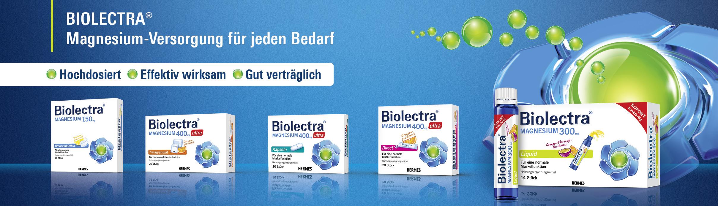 Biolectra Produktrange