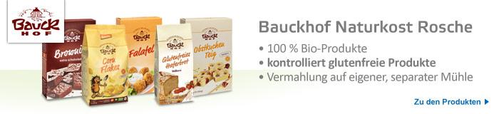 Bauckhof, kontrolliert glutenfreie Produkte