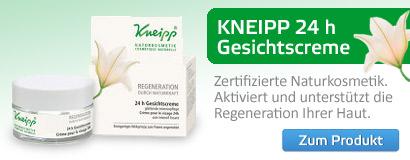 Glättende Intensivpflege – Kneipp Regeneration 24 h Gesichtscreme, Naturkosmetik von Kneipp