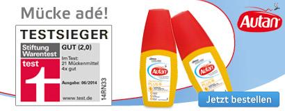 Autan, Testsieger bei Mückenschutz.