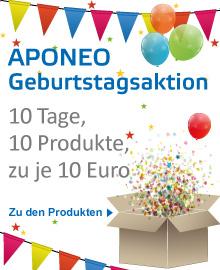 Aponeo sagt Danke für 10 Jahre.