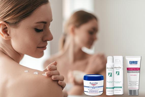 Bild-Text-Teaser Diabetes Hautpflege
