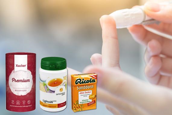 Bild-Text-Teaser Diabetes Teststreifen