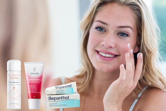 Bild-Text-Teaser Körperpflege Kosmetik Gesicht