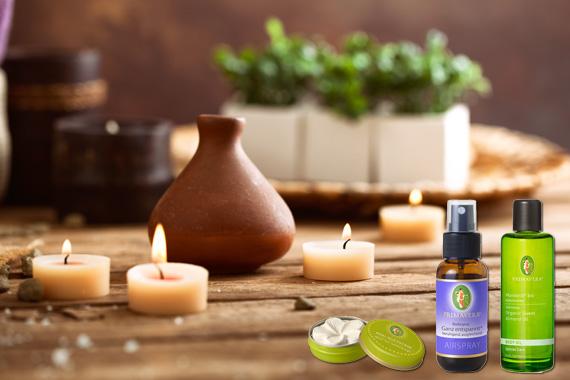 Bild-Text-Teaser Natur Homöopathie Aromatherapie