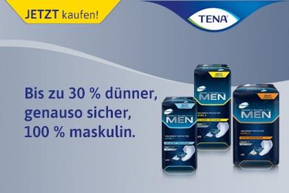 Tena Men – Inkontinenz-Produkte für Männer