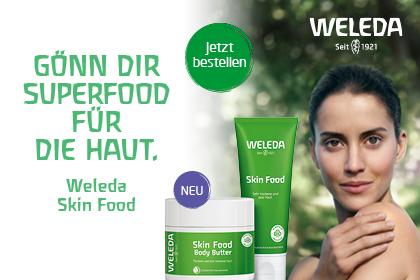 Weleda Skin Food Werbebanner