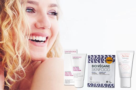 Bild-Text-Teaser Wellness Gesichtsmasken