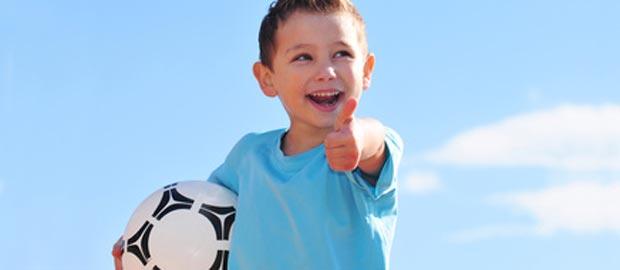 Fußball macht übergewichtige Kinder munter