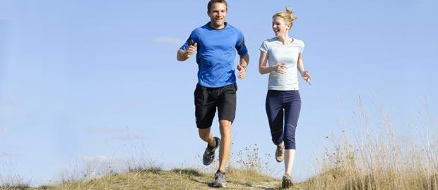 Gute Stimmung durch Laufen